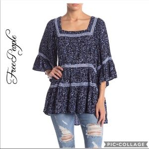 NWT Free People Talk About It Tunic